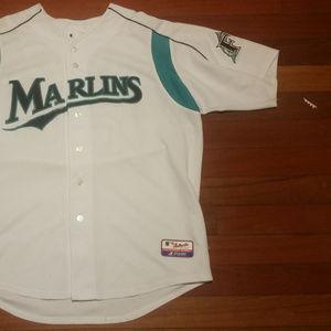 Mens vintage Florida Marlins baseball jersey MLB